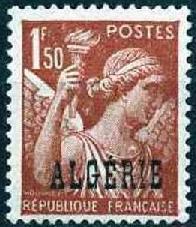 Timbre: Iris surchargé Algérie
