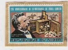 Timbre: 125 anniv de la naissance de Louis LUMIERE
