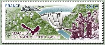 timbre: Maquis du barrage de l'Aigle
