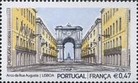 timbre:  Arc Rue Augusta - Emission commune France