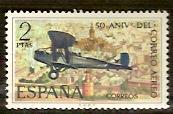 Timbre: 50 ans de courrier aérien en Espagne