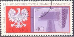 Timbre: Millénaire de l'Etat polonais