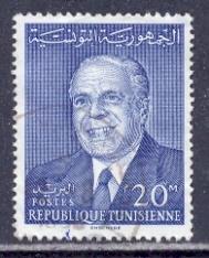 Timbre: Président Bourguiba