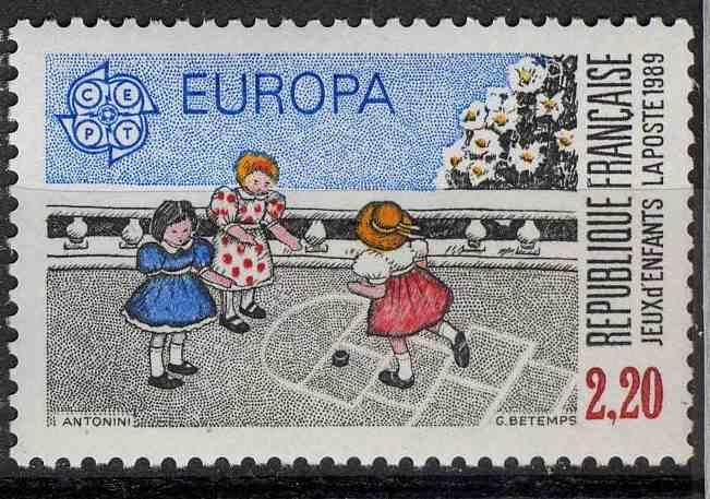 Timbre: Europa  jeux d'enfants