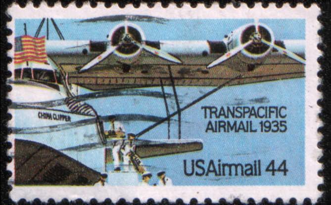 Timbre: L'aéropostale, hydraviation quadrimoteur Martin M-130