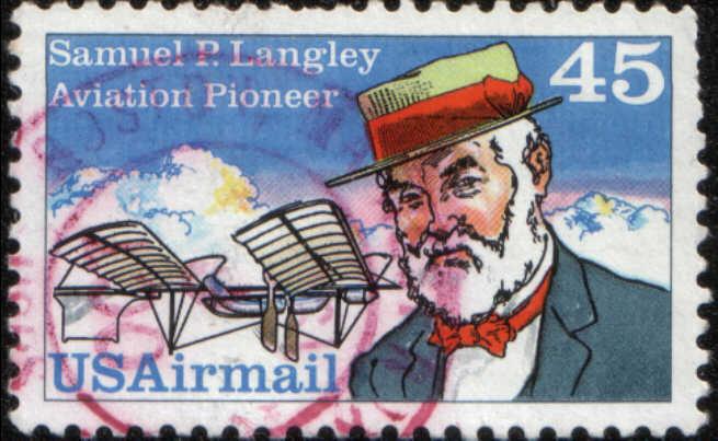 Timbre: Samuel P. Langley et appareil 1896