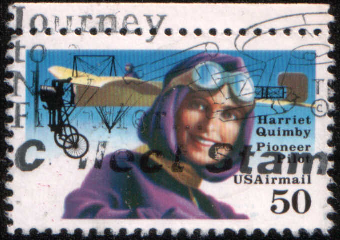 Timbre: Harriet Quimby et aéroplane BdF