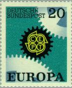 Timbre: Europa Allemagne 1967 - 20 %