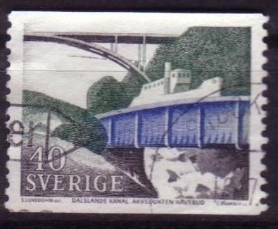 timbre: Canal de Dalsland et aqueduc d'Haverud
