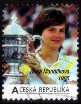 timbre: Hana Mandlikova, joueuse de Tennis