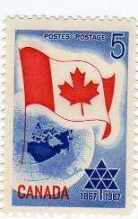 timbre: Centenaire de la Confédération