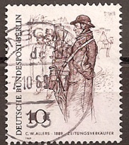 timbre: Vendeur de journaux  par C.W. Allers