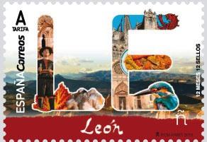 Timbre:  León. Capital Española de Gastronomía  León. Capital E