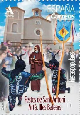 Timbre:  Fiestas Populares. Festes de Sant Antoni. Artà. Illes