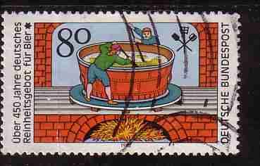 Timbre: 450è anniversaire de la législation sur la pureté de la bièr