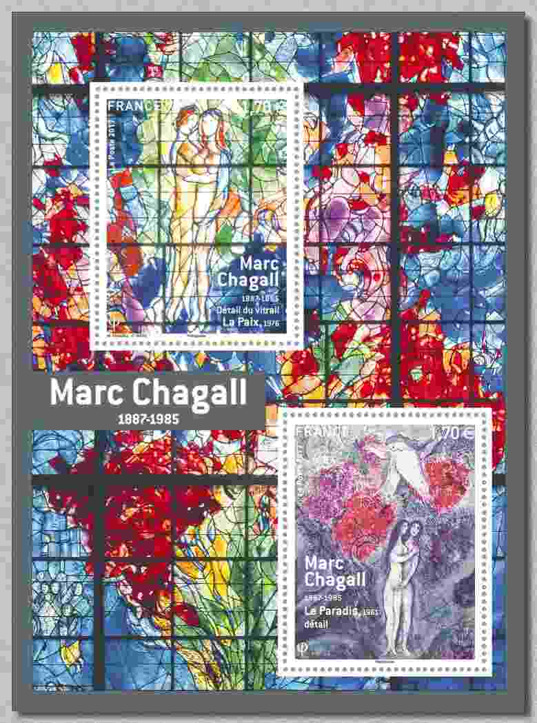 Timbre: Marc Chagall 1887-1985