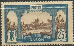 Timbre: Vue de Libreville
