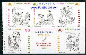 Timbre: 200 ans naissance R. Topffer  - voir note