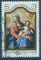 Timbre: Noel 1978, la Vierge et l'Enfant, Martino Altimonte