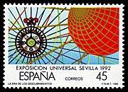 Timbre: Exposition Universelle de Sevilla 1992