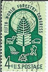 Timbre: Congres forestier