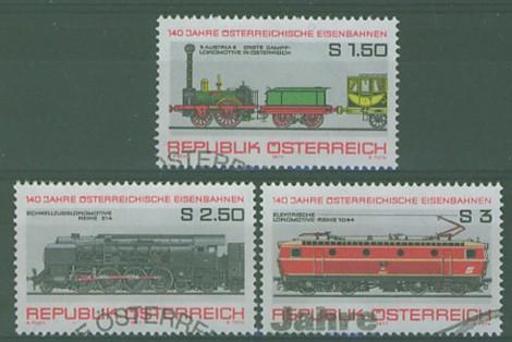 timbre: 140e anniversaire des chemins de fer autrichien