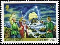 timbre: Serck au XV° siècle
