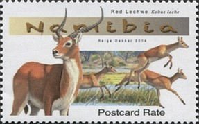 Timbre: Red Lechwe (Kobus leche)