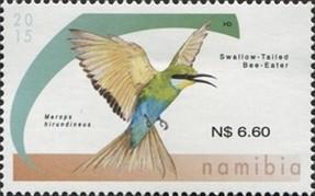 Timbre: Swallow-tailed Bee-eater (Dicrocercus hirundineus)