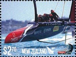 Timbre: Sailing Boats - America's Cup