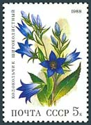 Timbre: Fleurs. Campanula latifolia