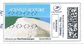Timbre: Vignette Nouvelle Aquitaine *