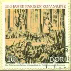 Timbre: Centenaire de la commune de Paris