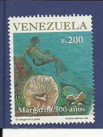 Timbre: Margarita 500 años: plongeur