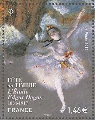 Timbre: Edgar Degas - L'Etoile (OR svp)