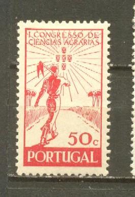 timbre: 1°congrès des sciences agraires,à Lisbonne