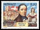 timbre: Les seigneurs de Monaco. Florestan 1° .