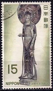 Timbre: Statuette temple Horyuji, Nara