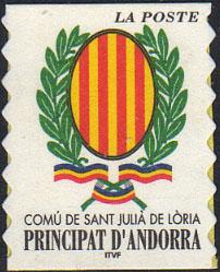 Timbre: Comu de San Julia de Loria.adhésif