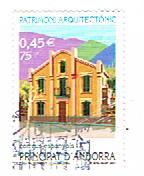 Timbre: Andorre Espagnol -  Palau à Sant Julia de Loria