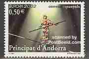 Timbre: Andorre espagnole - Le cirque