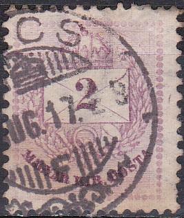 Timbre: Chiffres (2kr violet)