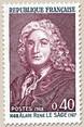 Timbre: Tricentenaire de la naissance de Alain René Lesage.(1ex