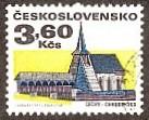 Timbre: Anciennes Bâtisses Eglise de Chrudinisko, Bohême