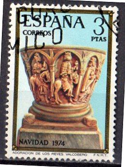Timbre: Noël 1974 : l'Adoration des Rois