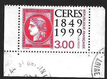 Timbre: Ceres 1849 - 1999 - bord de feuille (bas du carnet)