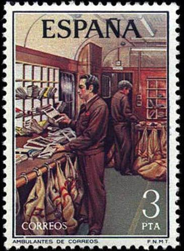 Timbre: Service postal ambulant