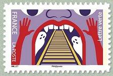Timbre: Fête foraine : Train fantôme (D:3) Note
