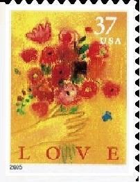 Timbre: Love - ND à gauche et en bas