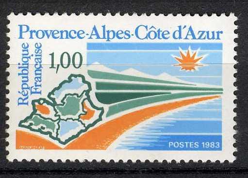Timbre: Région - Provence Alpes Côte d'Azur